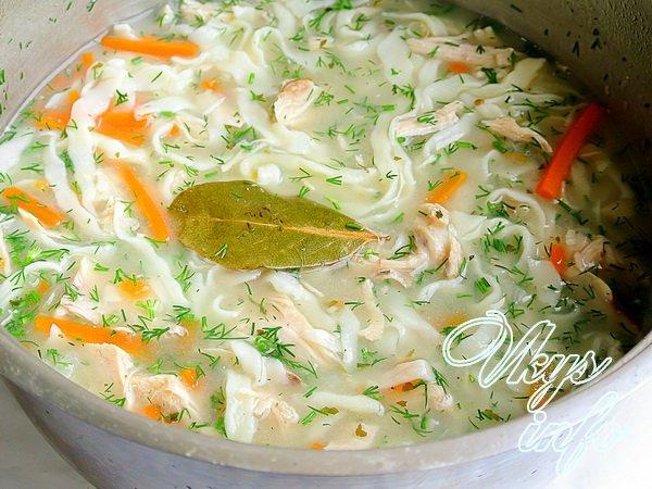 суп из куриных желудков с лапшой рецепт