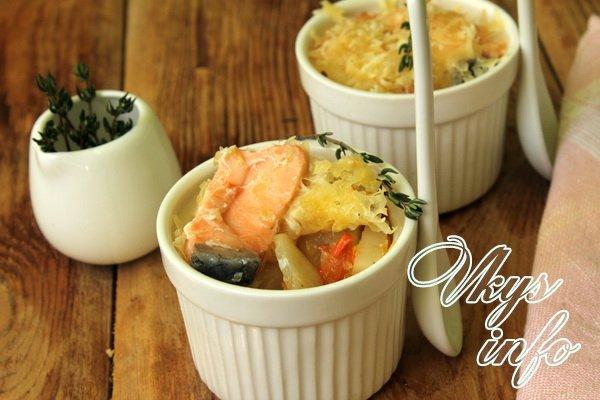 рецепт семги в духовке с картошкой фото рецепт