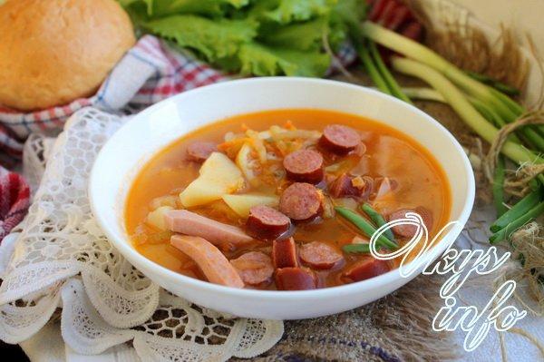 рецепт Суп солянка с колбасой
