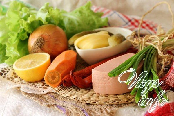 Суп солянка с колбасой фото ингредиенты
