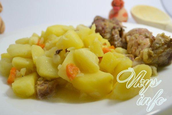 Курица с картошкой в казане рецепт фото