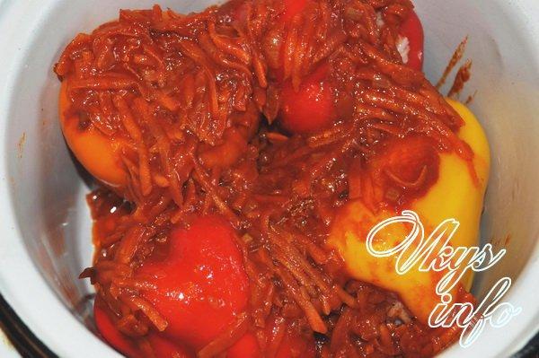 рецепт болгарский перец фаршированный мясом и рисом рецепт с фото