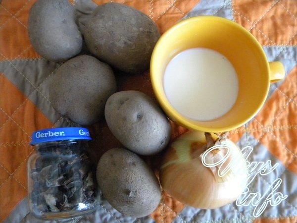 картошка с белыми грибами в горшочках