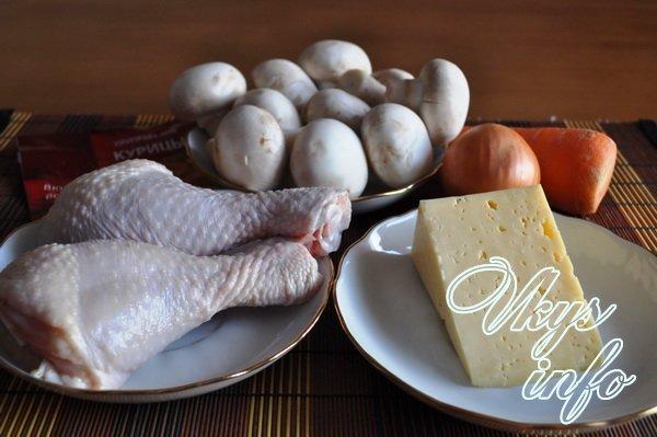 Куриные рулетики с сыром и грибами фото ингредиенты