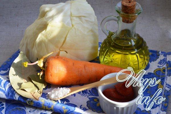 Как потушить свежую капусту фото ингредиенты