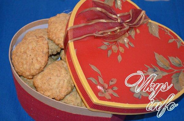 готовое овсянное печенье