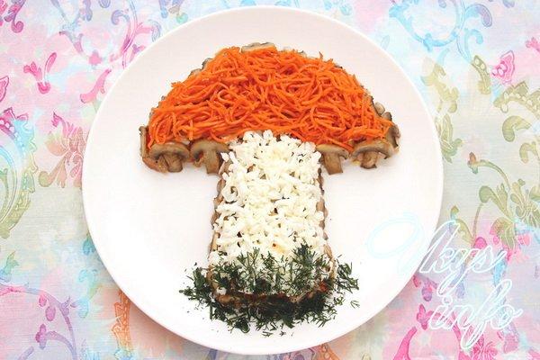 курица шампиньоны яйца салат рецепт с фото