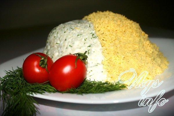 Салат Мимоза классический с консервой рецепт с фото ...