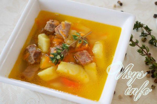 картофельный суп с мясом пошаговый рецепт