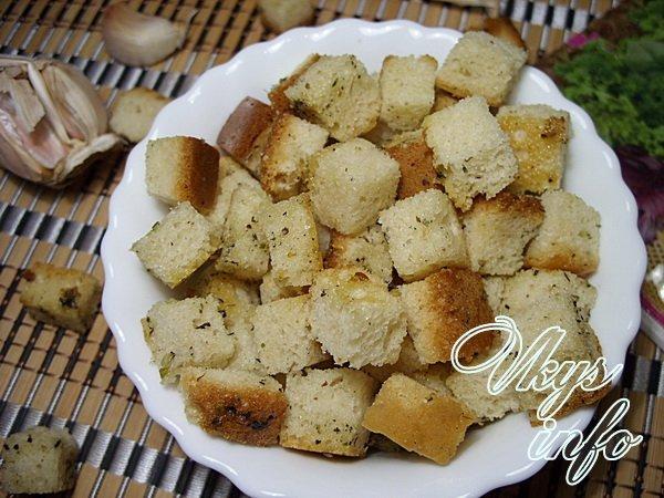 Как готовить сухари с чесноком в духовке