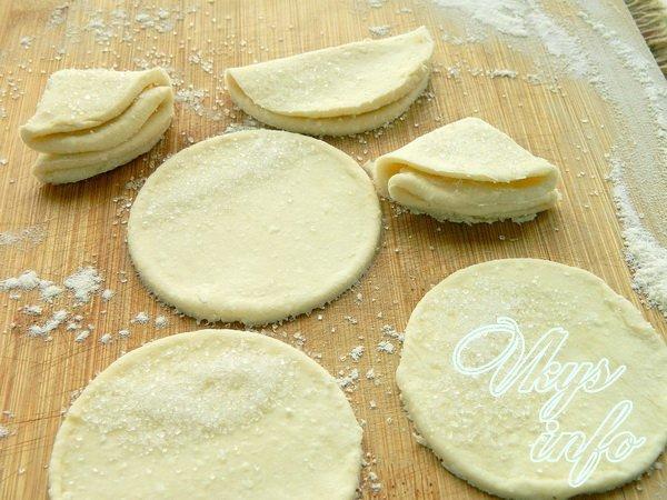 Печенье из творога треугольники с сахаром рецепт