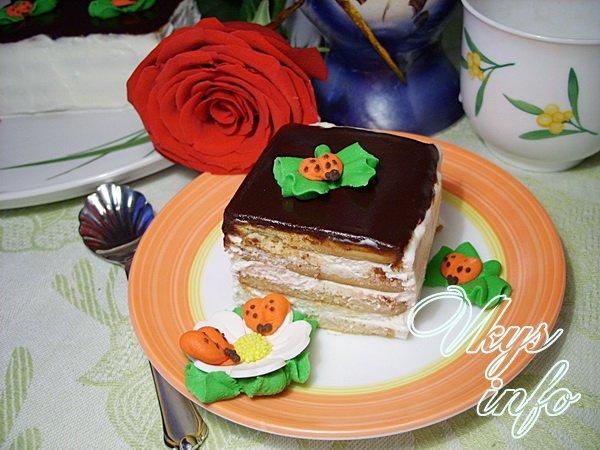 рецепт торта с печеньем и сметаной