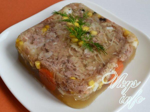 рецепт холодец из говядины и свиных ножек