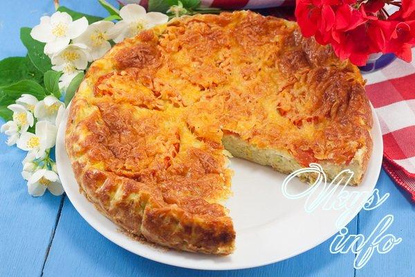 пирог из кабачков в духовке рецепты с фото