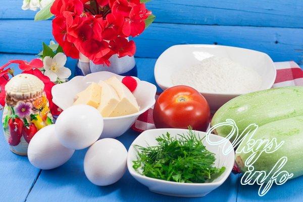 Пирог из кабачков рецепт фото ингредиенты