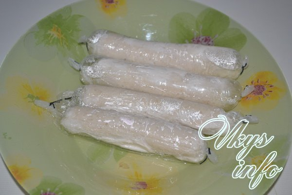 сосиски сварили