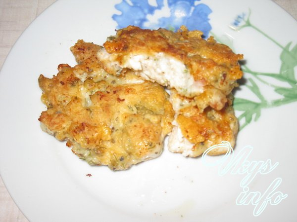 рецепт Рубленые куриные котлеты с сыром