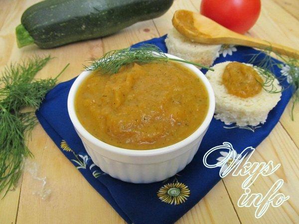 рецепт Икра из кабачков и болгарского перца