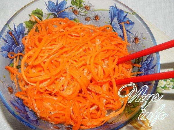 рецепт Корейская морковь в домашних условиях