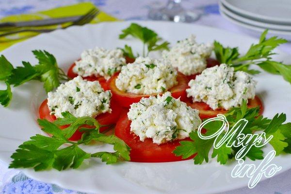 рецепт помидоры с творогом и чесноком фото рецепт
