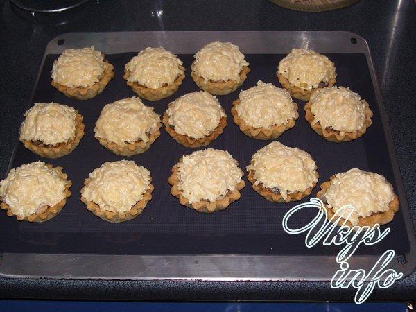 рецепт тарталетки с сыром в духовке