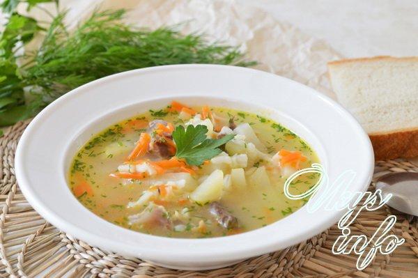 как приготовить суп с куринными потрошками