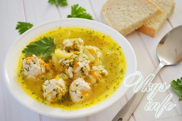 суп из тефтелей с вермишелью рецепт с фото