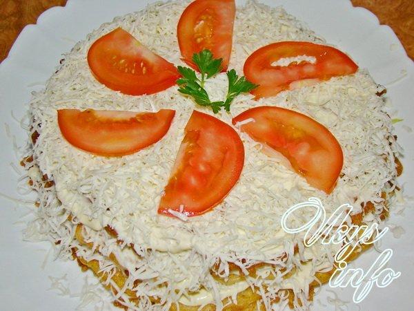 рецепт Торт из кабачков с плавленным сыром