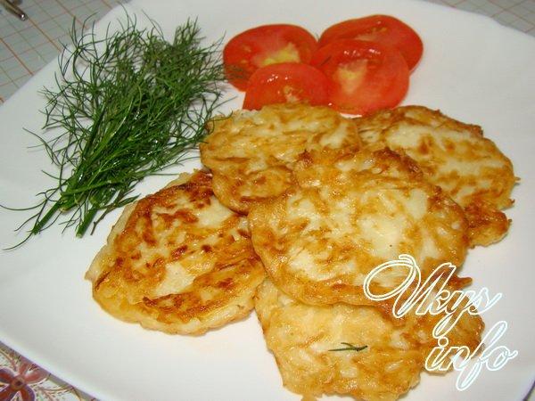 оладьи из кабачков и картофеля с сыром