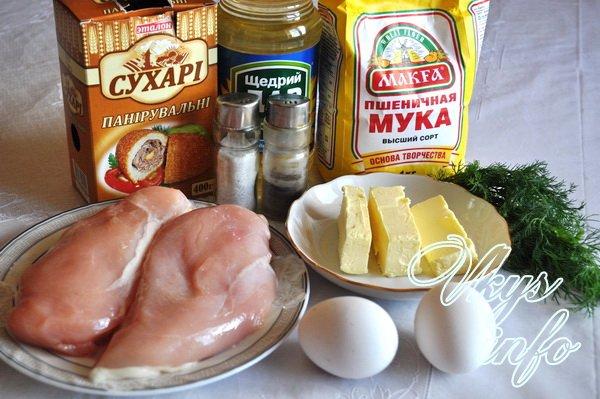 рецепт котлет по киевски из куриного филе с фото