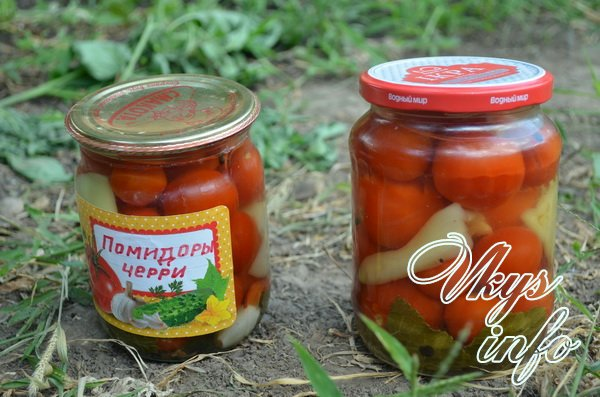 помидоры черри закатали