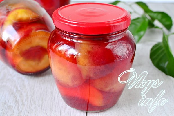 Персики половинки