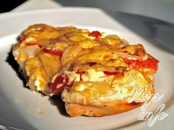 отбивные из свинины в духовке рецепт с фото с ананасами и сыром