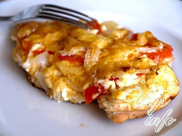 куриное филе в духовке с ананасом и сыром