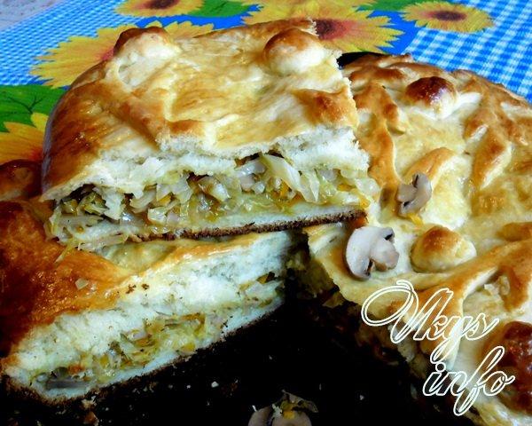 Пирог с фаршем и картошкой из слоеного дрожжевого теста рецепт с