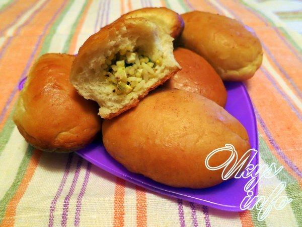 пирожки с рисом и яйцом в духовке рецепт