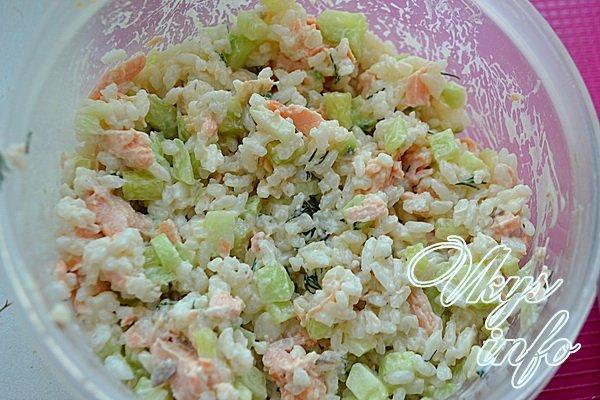 Рис семгой рецепт фото