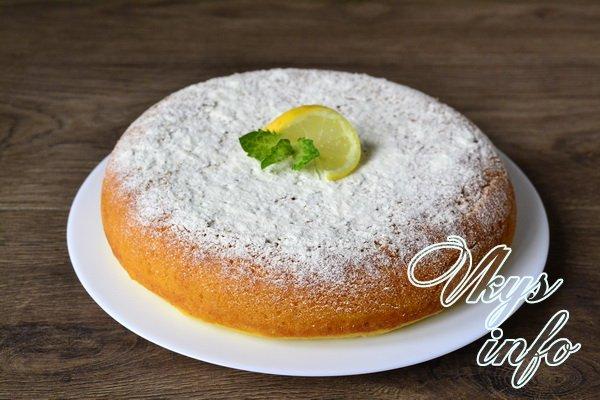 лимонный кекс готов