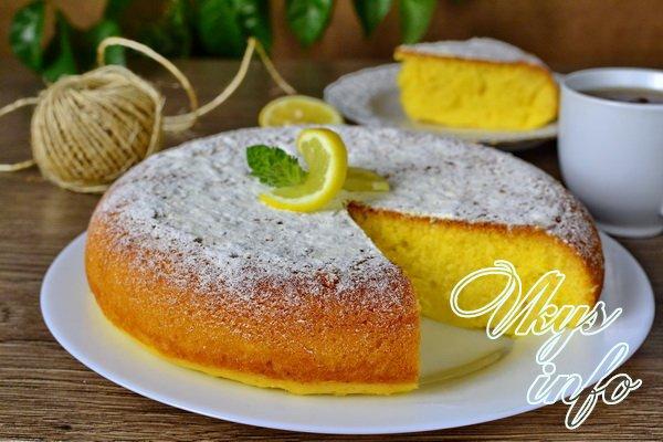 рецепт Лимонный кекс в мультиварке с пропиткой