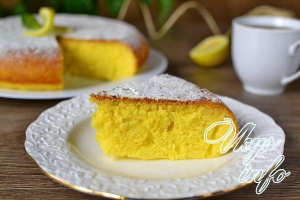 лимонный кекс кусочек