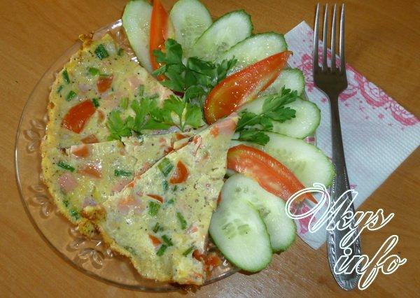 яичница с помидорами и салом рецепт с фото пошагово