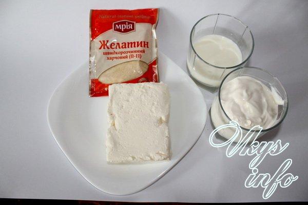 бланманже творожное рецепт с фото