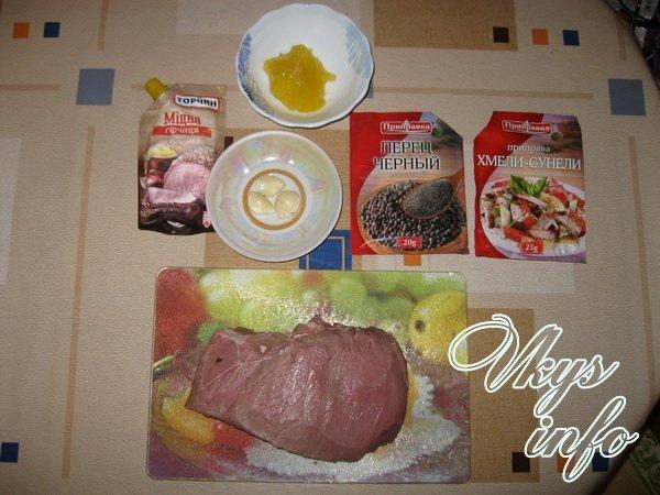 Запеченная говядина в мультиварке рецепт с фото