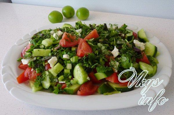 Рецепты салатов из помидор летний