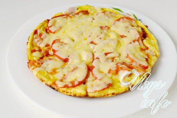 пицца на сковороде готова