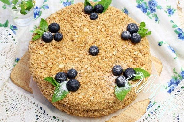 Чем украсить торт наполеон в домашних условиях фото