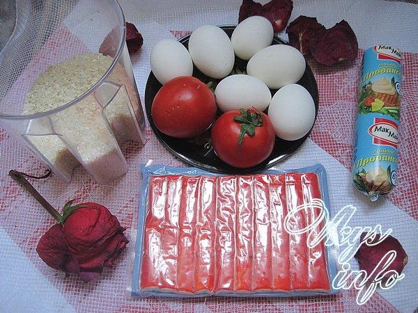 Фаршированные помидоры крабовыми палочкамиы