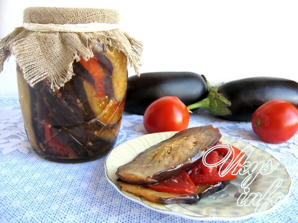 баклажаны на зиму рецепты с фото с помидорами