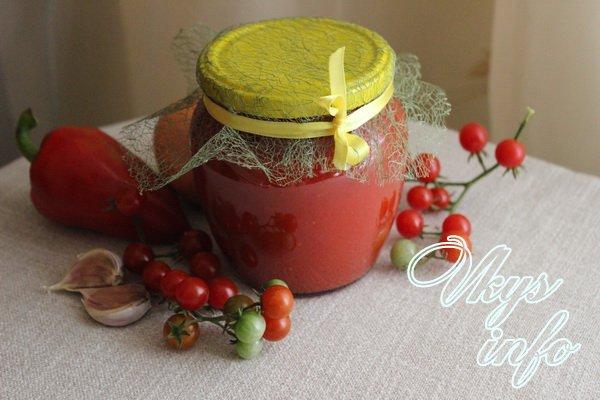 Аджика вареная из помидоров на зиму
