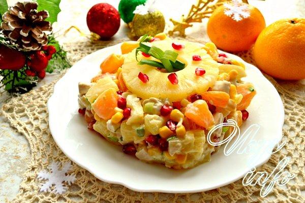 Новогодние салаты с курицей